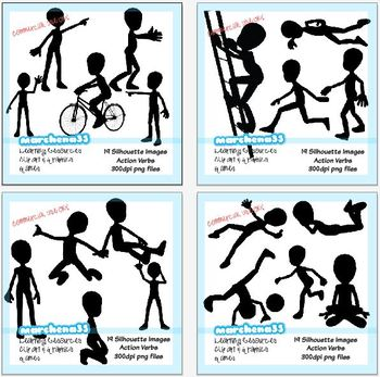 19 Silhouette Action Clip Art Images - Commercial Use OK Clipart