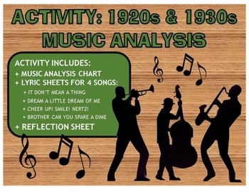 "Activity: Music Analysis - 1920s & 1930s ""Roaring Twenties"