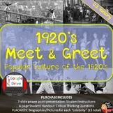 "1920's ""Meet & Greet"" – Popular Culture of the Twenties (U"