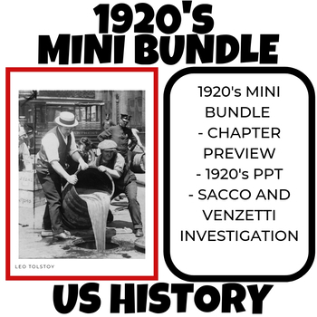 1920's Prohibition Commie Hunt Harlem Renaissance Mini Bundle