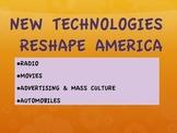 1920s--Technologies Reshape America