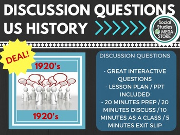 Discussion Questions 1920's