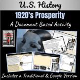 1920's U.S. Prosperity: A Mini-DBQ Activity