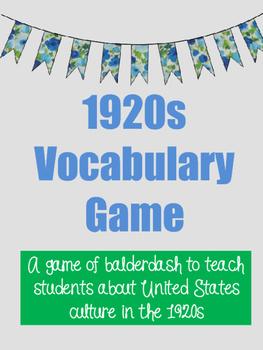 1920s Vocabulary Game