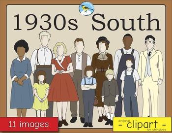 1930s South Clip Art