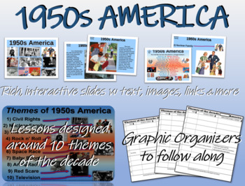 US HISTORY -1950s America - visual, textual, engaging 61-s