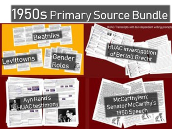 1950s Primary Source Bundle (6 different documents w text-