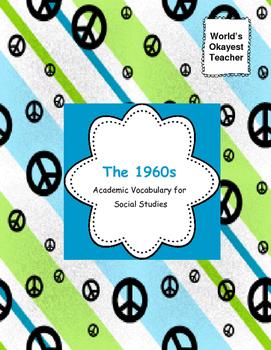1960s  Vocabulary Match Ups for Social Studies