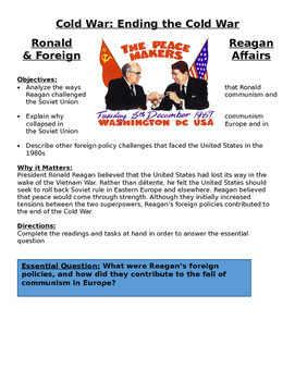 1980s Ronald Reagan & Foreign Affairs - Cold War Affecting