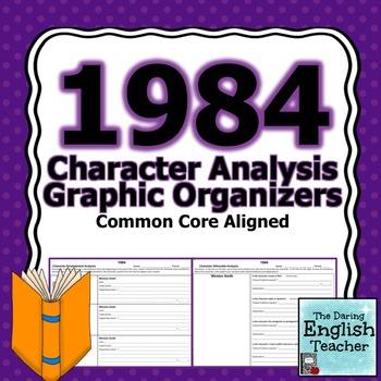 1984 Character Analysis Graphic Organizers