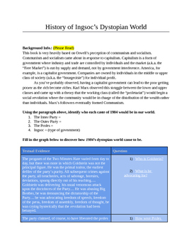 1984 - Guided Reading Activity
