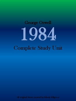 1984 by George Orwell Study Unit