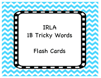 1B Tricky Words Flash Cards