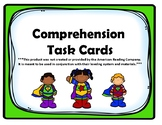 Kindergarten Comprehension Task Cards Alligned to American