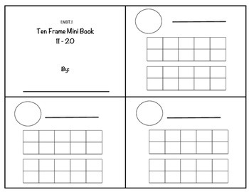 1.NBT.1 Ten Frame Mini Book 11 - 20