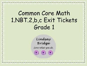 1.NBT.2 Exit Tickets