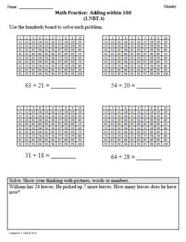 (1.NBT.4) Add within 100 -1st Grade Common Core Math Works