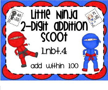 1.NBT.4 Adding 2 Digit Numbers Little Ninja SMARTBoard Les