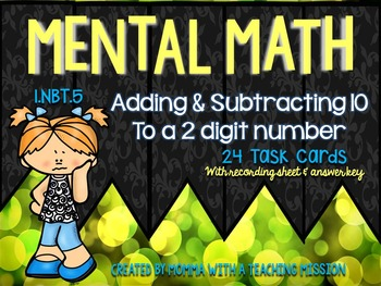 1.NBT.5 Mental Math Task Cards