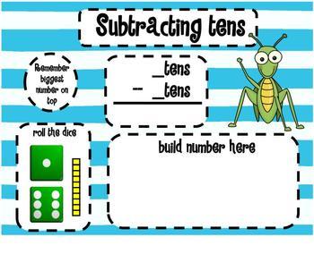 1.NBT.6 Subtracting Multiples of 10 Dice SMARTBoard Lesson