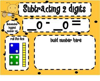 1.NBT.6 Subtracting Tens Dice SMARTBoard Lesson