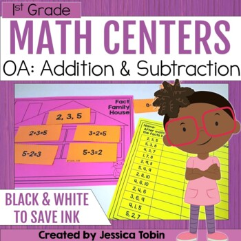 1st Grade OA Centers- Operations and Algebraic Centers