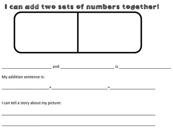 1.OA.1- Creating addition word problem and sentences