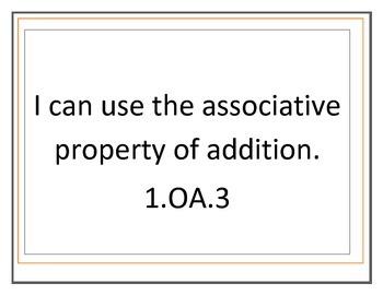 1.OA.3 Adding 3 digits, Associative Property Unit with QR Codes