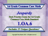 1.OA.6 1st Grade Math Jeopardy Game Fluently Add & Subtrac