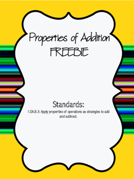 Properties of Addition Organizer FREEBIE!