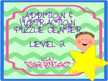 1.OA.7 Addition Puzzle Center Level 2