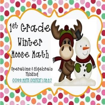 1.OA.A.2 Winter Moose Math To Twenty Word Problems/Activit