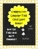 elementary grammar & language ela QR task cards year bundle!
