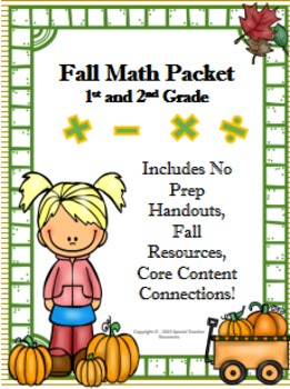 1st & 2nd Grade Fall Math Packet Vol.2