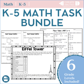 1st-5th Grade Math Mega Bundles