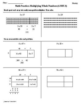 Printables Common Core 4th Grade Math Worksheets 1st 9 weeks 4th grade common core math by tonya gent worksheets bundled