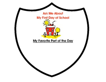 Back to School - First Day of School Coat of Arms