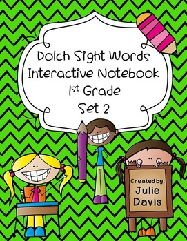 1st First Grade Dolch Sight Word Interactive Notebooks Set 2
