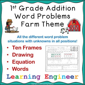 1st Grade Math Center Worksheets and One Step Equations (M