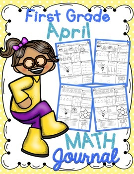 1st Grade April Math Journal