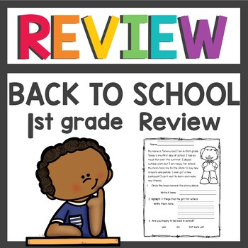 First Grade / Back to School / Review Activities