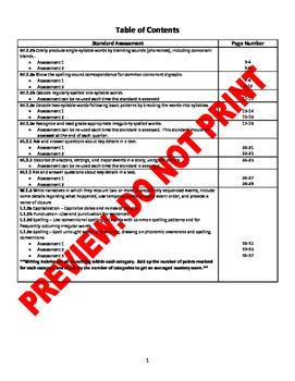 1st Grade CCSS ELA Assessment Bundle