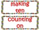 1st Grade CCSS Math Vocabulary Cards Set 1