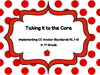 1st Grade CCSS Reading Standards Lesson Ideas, Scaffolds &