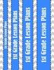 1st Grade Chevron Lesson Plan Set - Binder Cover, Daily &
