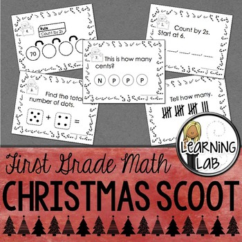 1st Grade Christmas Math Scoot