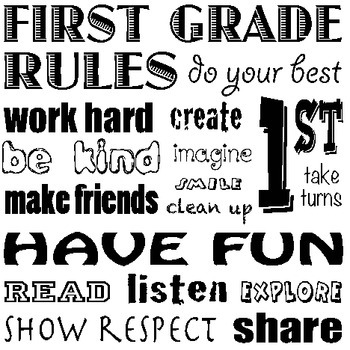 1st Grade Classroom Rules Poster