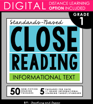 1st Grade Close Reading - Informational Text