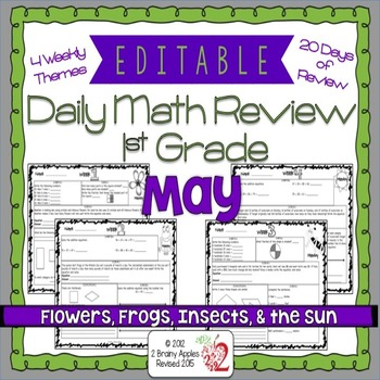 Math Morning Work 1st Grade May Editable