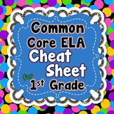 1st Grade Common Core ELA Standards CHEAT SHEET (ALL stand